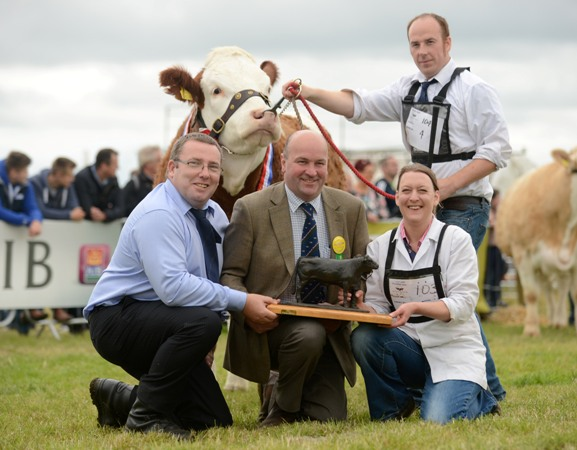 Jenna Stone Trophy Presentation to Martin Mooney, National Senior Heifer Winner