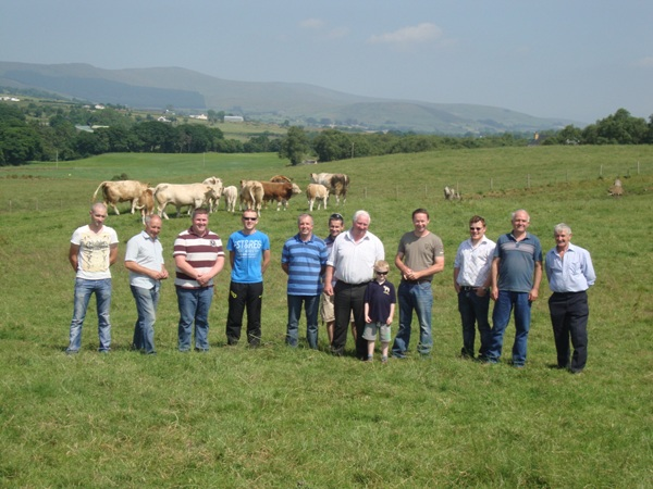 North Western Simmental Club Farm Tour in Co. Tyrone visiting the farms of Cecil Mc Ilwaine and Raymond Porter